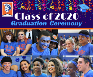 Graphic for Class of 2020 graduation announcement